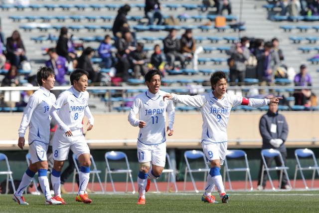 木戸(東福岡高♯11)の決勝ゴールで高校選抜が初めてJリーグ選抜を下した