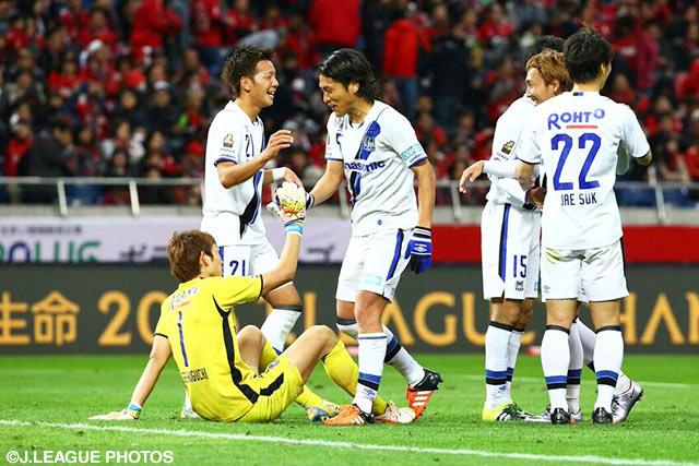 白熱の延長戦の末、G大阪が浦和に競り勝って決勝進出