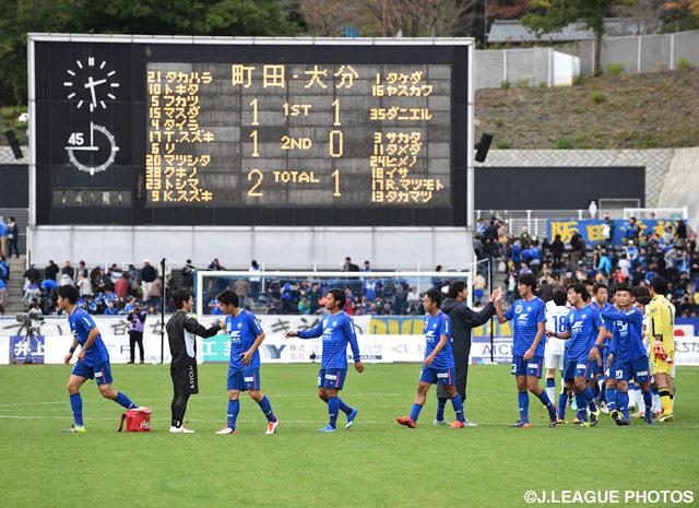 エース鈴木の2得点の活躍で、町田がホームでの第1戦をモノにした