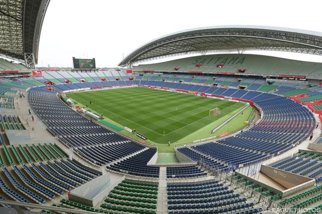決勝戦が行われる埼玉スタジアム2002での観戦エリアが決定しました(2016年5月14日撮影)