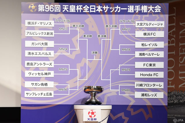 Draw for final stages of Emperor's Cup announced