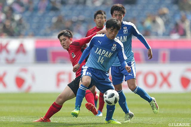 田部井(日本高校サッカー選抜)「泥臭く、粘り強く戦おうと意識していたので、それが出せたことが嬉しいです」【試合後コメント:NEXT GENERATION MATCH】