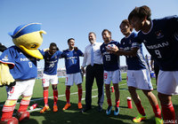 F. Marinos & Gamba take Levain Cup playoff leads