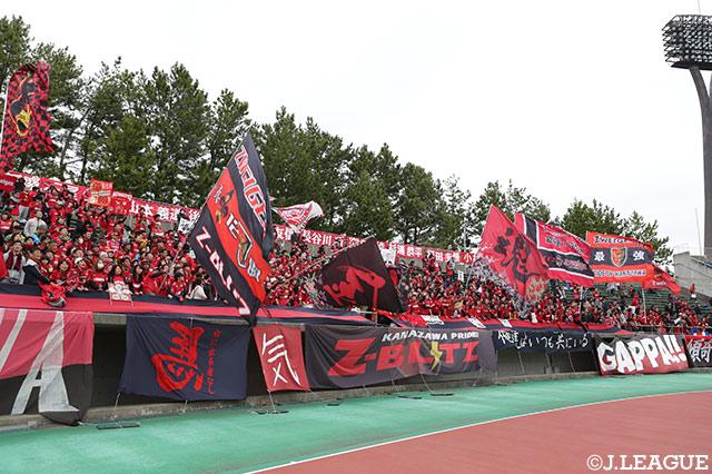 岐阜との練習試合は引き分けに終わる【金沢】