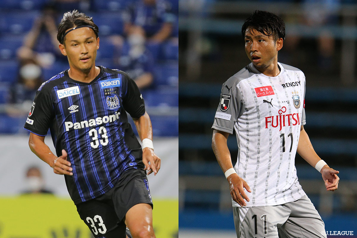 The Big Match Is Here Table Leaders Kawasaki Frontale Vs Second Place Gamba Osaka Plus Can Nagoya Grampus Mighty Defence Stop Top Scorer Olunga J League Jp