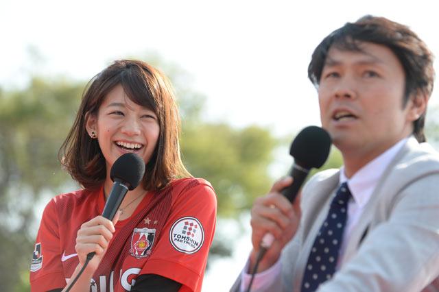 【明治安田J1 1st 第6節 浦和vs横浜FM】イベントを行うJリーグ女子マネ 佐藤美希さん