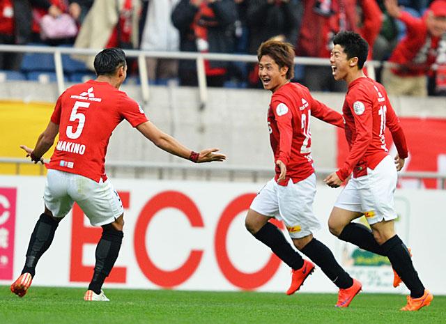 【明治安田J1 1st 第7節 浦和vs名古屋】関根の今季リーグ戦初ゴールで先制した浦和