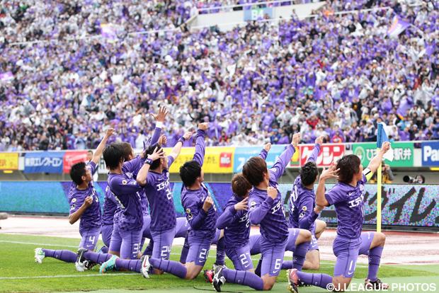 圧巻のゴールショーに圧巻のゴールパフォーマンス【王者の系譜 2012年 広島】