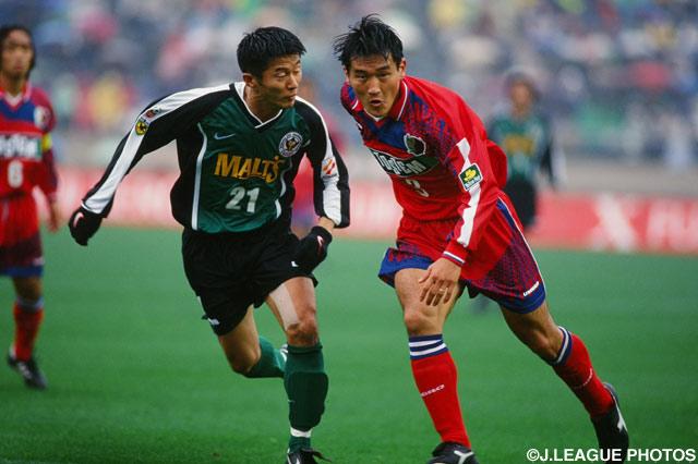 ハードな守備で勝利に貢献した秋田 豊(鹿島)【1997年 鹿島vsV川崎】
