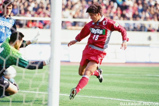 同点ゴールを決めた柳沢 敦(鹿島)【1998年 磐田vs鹿島】