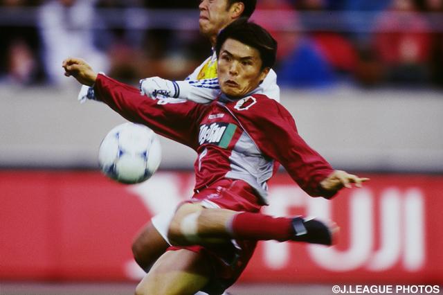 鮮やかな左足ボレーで決勝点奪った名良橋 晃(鹿島)【1999年 鹿島vs清水】