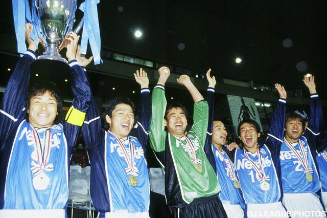 1点を争う白熱の試合を制した磐田の選手たち【2000年 磐田vs名古屋】