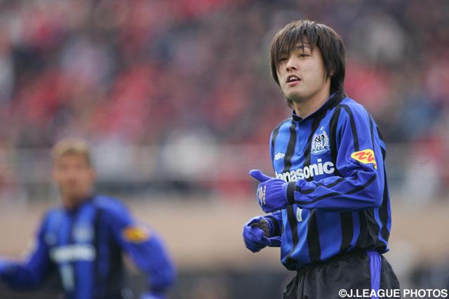 G大阪の攻撃をリードした遠藤 保仁(G大阪)【2006年 G大阪vs浦和】