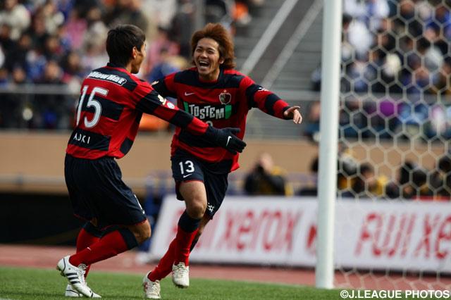 開始早々に先制ゴールを奪った興梠 慎三(鹿島)【2009年 鹿島vsG大阪】