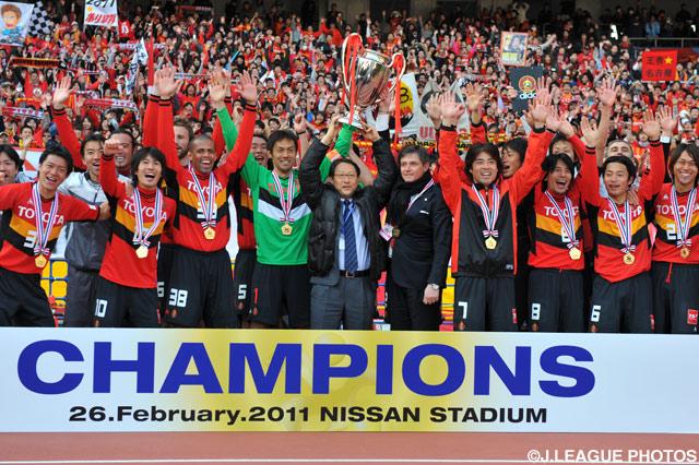 名古屋は15年ぶり2度目の優勝を果たした【2011年 名古屋vs鹿島】