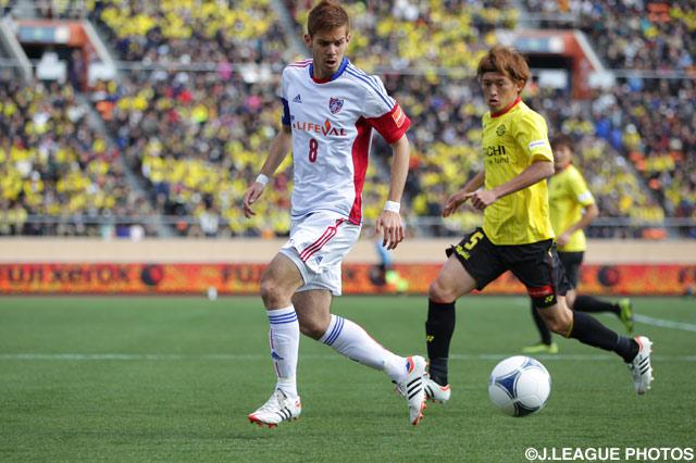 劣勢の中、1点を返した長谷川 アーリアジャスール(FC東京)【2012年 柏vsFC東京】