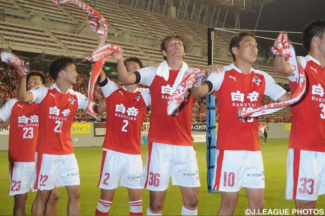 ベアスタで連勝を飾った熊本(2016年6月19日)