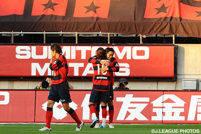 2009年、天王山といわれたG大阪戦でゴール