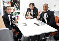 こちらは功労選手賞を受賞した山口 智さんとG大阪の井手口 陽介とアデミウソン