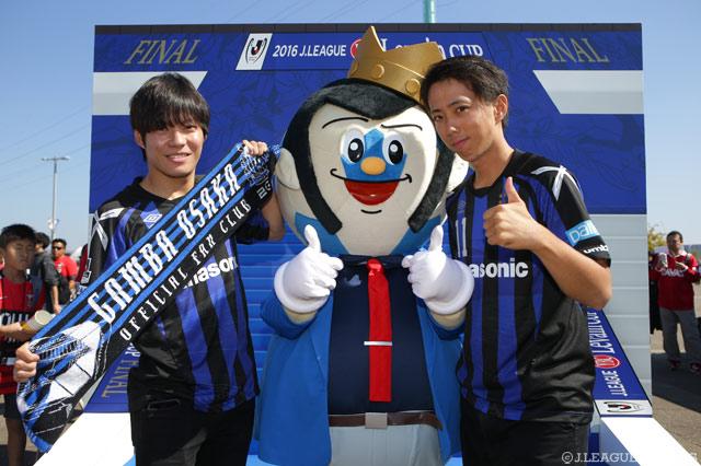 G大阪のファン・サポーターとパシャリ!【YLC 決勝 G大阪vs浦和】